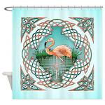 Celtic Flamingo Art Shower Curtain