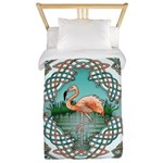 Celtic Flamingo Art Twin Duvet Cover