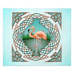Celtic Flamingo Art King Duvet Cover