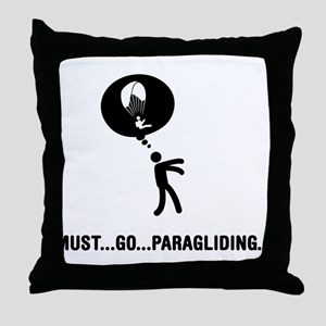 Paragliding Throw Pillow