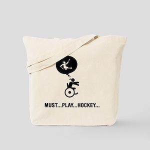 Sled Hockey Tote Bag