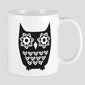 black and white owl Mug