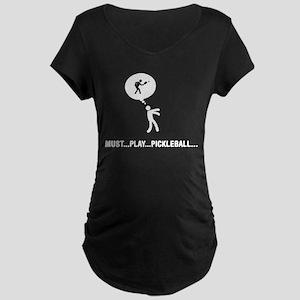 Pickleball Maternity Dark T-Shirt