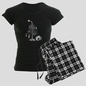 Gothic Christmas Tree Women's Dark Pajamas