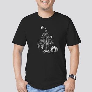 Gothic Christmas Tree Men's Fitted T-Shirt (dark)