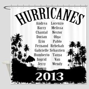 2013 hurricanes Shower Curtain