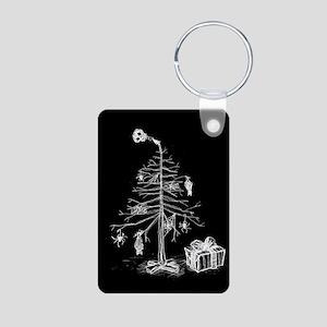 Gothic Christmas Tree Aluminum Photo Keychain