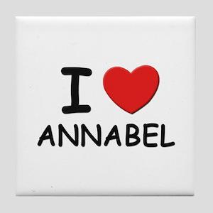 I love Annabel Tile Coaster