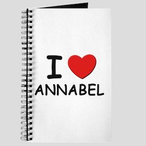 I love Annabel Journal