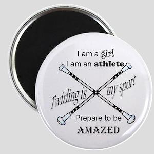 Twirling Athlete Magnet