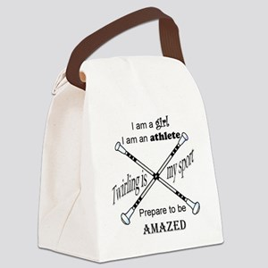 Twirling Athlete Canvas Lunch Bag
