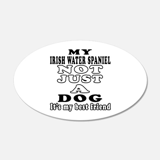 Irish Water Spaniel not just a dog Wall Decal