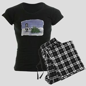 Felling The Holiday Tree Women's Dark Pajamas