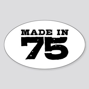Made In 75 Sticker (Oval)