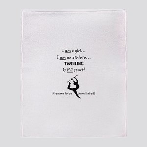 Twirling Athlete Throw Blanket