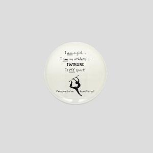Twirling Athlete Mini Button