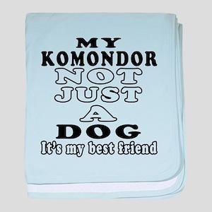 Komondor not just a dog baby blanket