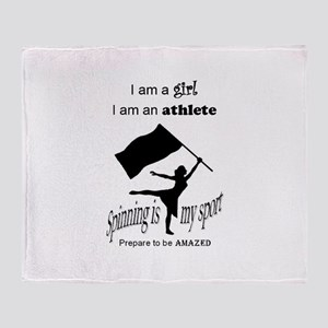 Spinning Athlete Throw Blanket