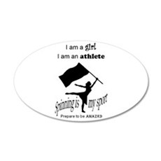 Spinning Athlete Wall Decal