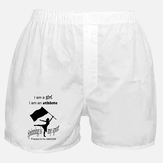 Spinning Athlete Boxer Shorts
