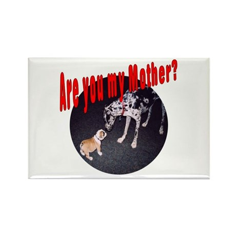 Are You My Mother? Bulldog Rectangle Magnet