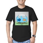 Fishbowl Divorce Men's Fitted T-Shirt (dark)