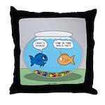 Fishbowl Divorce Throw Pillow