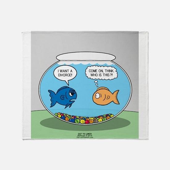 Fishbowl Divorce Throw Blanket