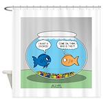 Fishbowl Divorce Shower Curtain
