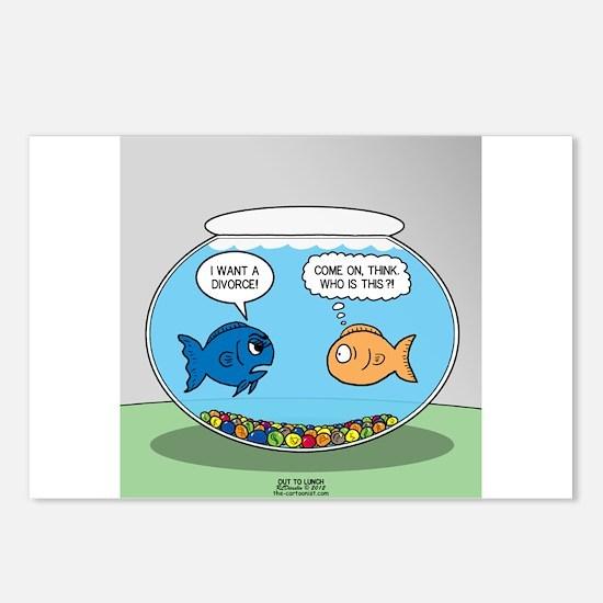 Fishbowl Divorce Postcards (Package of 8)
