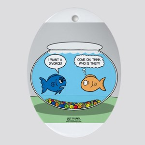 Fishbowl Divorce Ornament (Oval)
