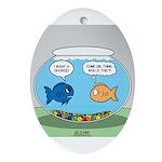 Fishbowl Divorce Ornament (Oval)