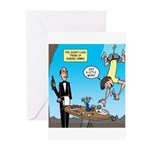 Bungee Dining Greeting Cards (Pk of 10)