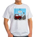 Smart Car vs Dumb Guy Light T-Shirt