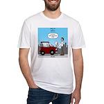 Smart Car vs Dumb Guy Fitted T-Shirt