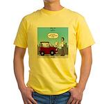 Smart Car vs Dumb Guy Yellow T-Shirt