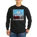 Smart Car vs Dumb Guy Long Sleeve Dark T-Shirt