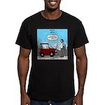Smart Car vs Dumb Guy Men's Fitted T-Shirt (dark)