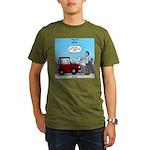 Smart Car vs Dumb Guy Organic Men's T-Shirt (dark)