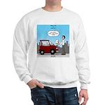 Smart Car vs Dumb Guy Sweatshirt