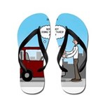 Smart Car vs Dumb Guy Flip Flops