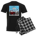 Smart Car vs Dumb Guy Men's Dark Pajamas