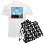 Smart Car vs Dumb Guy Men's Light Pajamas
