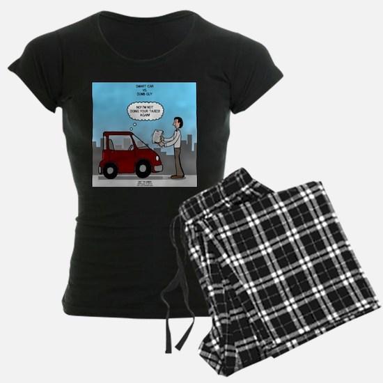 Smart Car vs Dumb Guy Pajamas