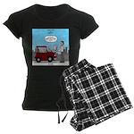 Smart Car vs Dumb Guy Women's Dark Pajamas