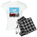 Smart Car vs Dumb Guy Women's Light Pajamas