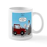 Smart Car vs Dumb Guy Mug