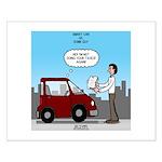 Smart Car vs Dumb Guy Small Poster