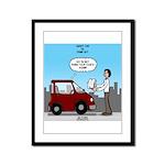 Smart Car vs Dumb Guy Framed Panel Print