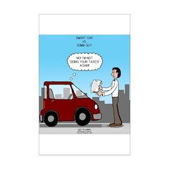 Smart Car vs Dumb Guy Posters